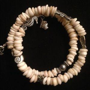 Puka shell memory bracelet